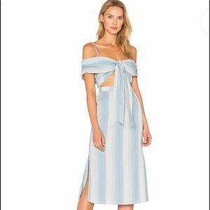MAJORELLE X Revolve Rum Runner Dress iBlue Stripe